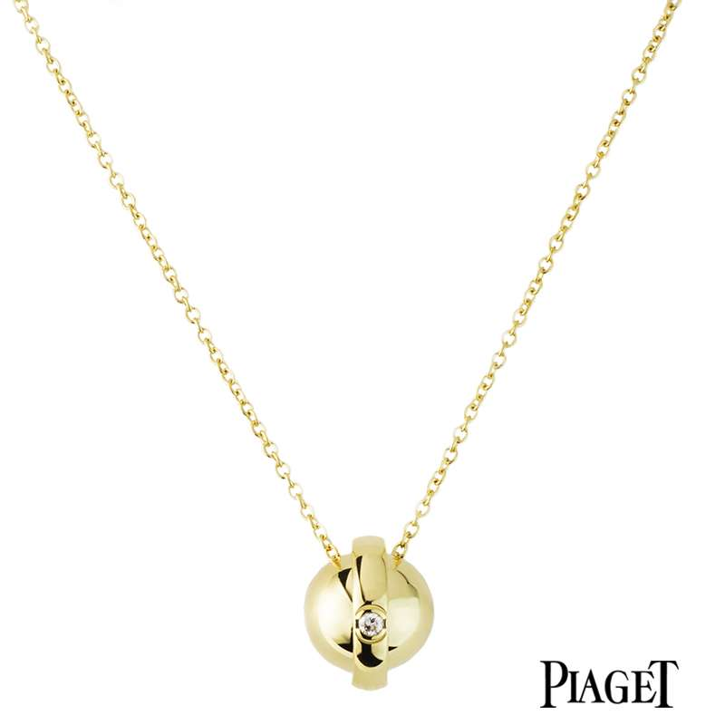 Piaget 18k Yellow Gold Possession Ball Pendant G3390021 B&P